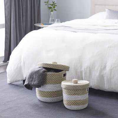 2 Piece Seagrass Basket Set - Wayfair