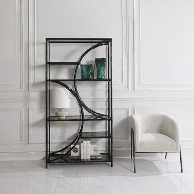 Hinton Black Iron Etagere - Hudsonhill Foundry