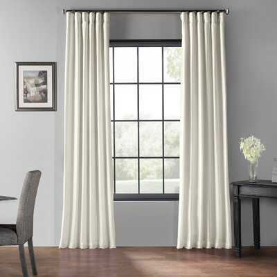Solid Blackout Rod Pocket Single Curtain Panel - Birch Lane