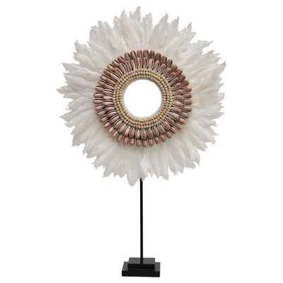 Cheviotdale Feather and Shell Decorative - Wayfair