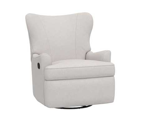 Parker Swivel Glider Recliner, Brushed Chenille, Dove - Pottery Barn Kids