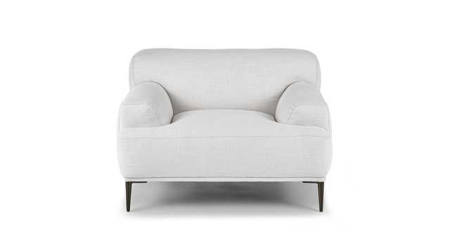 Abisko Quartz White Lounge Chair - Article