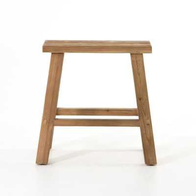 Four Hands Wells Solid Wood Accent Stool Color: Natural - Perigold