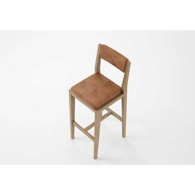 NOUVEAU BISTRO Solid Wood 29.64'' Stool (Set of 2) - Wayfair