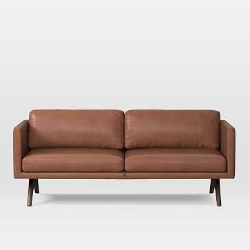 """Brooklyn 81"""" Sofa, Charme Leather, Cigar - West Elm"""