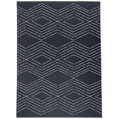 Archita Geometric Navy Area Rug - Wayfair
