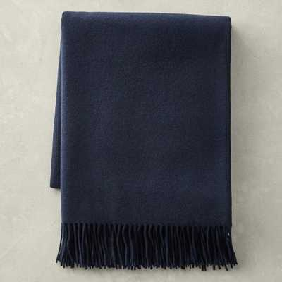 """Solid Cashmere Throw, 50"""" X 65"""", Navy - Williams Sonoma"""