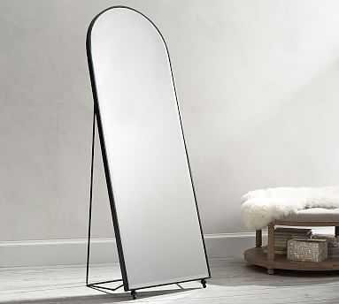 "Raval Floor Mirror, Bronze, 74"" x 26.5"" - Pottery Barn"