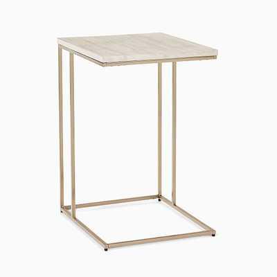 Streamline Collection C Side Table Winterwood/Light Bronze - West Elm