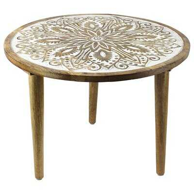 Rovel Round Wooden End Table - Wayfair