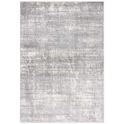 Abstract Grey / Ivory Area Rug - Wayfair