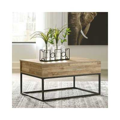 Poynter Frame Coffee Table with Storage - Wayfair