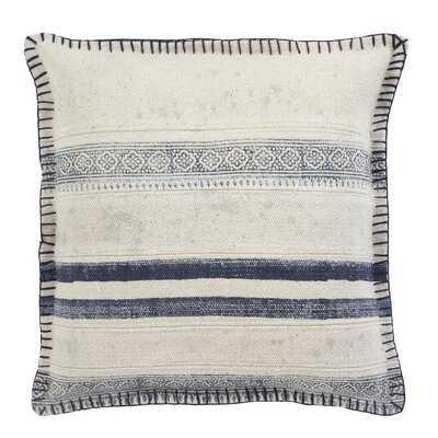 """Vanston Striped Cotton 20"""" Throw Pillow Cover - Birch Lane"""