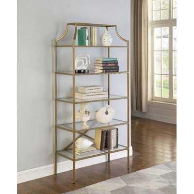 """Styron 70"""" H x 31.5"""" W Metal Etagere Bookcase - Wayfair"""