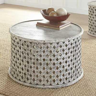 Solid Wood Drum Coffee Table - Wayfair