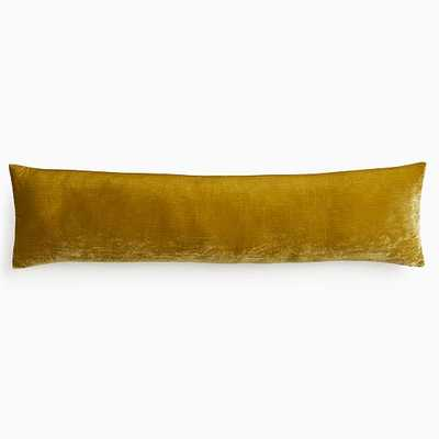 "Lush Velvet Pillow Cover, 12""x46"", Wasabi - West Elm"