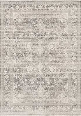 "Loloi Homage HOM-04 Ivory / Grey 5'-3"" x 7'-6"" - Loma Threads"