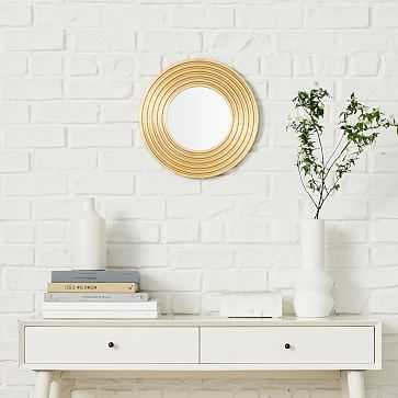 "Nile Mirror, Round, Gold, 15"" - West Elm"