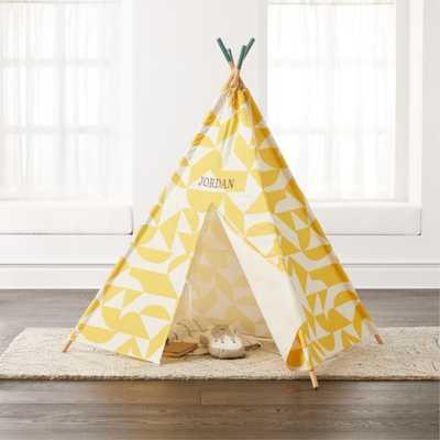 Geometric Yellow Teepee - Crate and Barrel