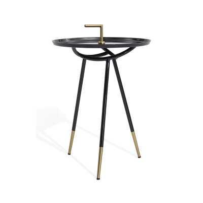 Bellini Modern Living Flare End Table Color: Black - Perigold
