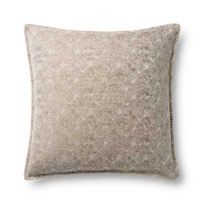 "Loloi PILLOWS P0890 Beige 16""x26"" with polyfill - Loma Threads"