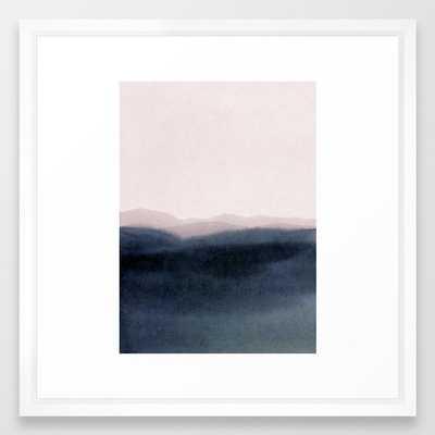 Dusk Scenery Framed Art Print by Iris Lehnhardt - Vector White - MEDIUM (Gallery)-22x22 - Society6