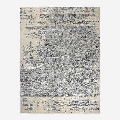 Hand Knotted Fragment Rug, 9'x12', Cool Multi - West Elm