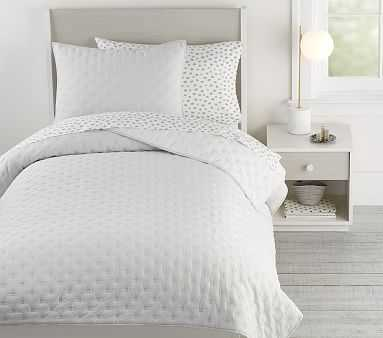 Square Stitch Quilt, Twin, White, - Pottery Barn Kids