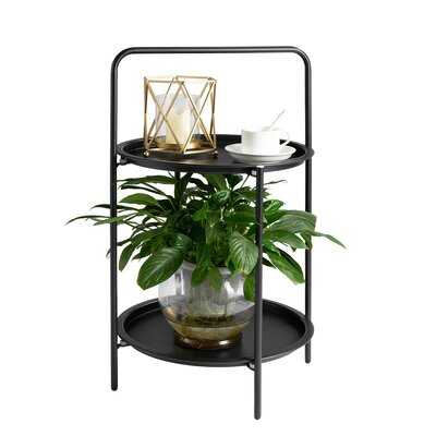 Gazella Tray Top End Table with Storage - Wayfair