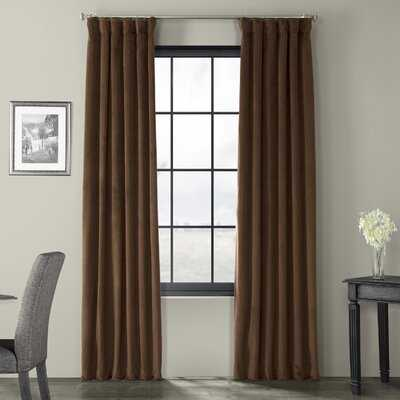Albert Velvet Solid Blackout Thermal Rod Pocket Single Curtain Panel - Birch Lane