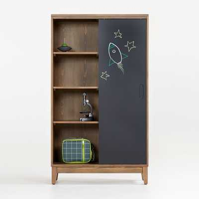 Chalkboard Cocoa Bookcase - Crate and Barrel