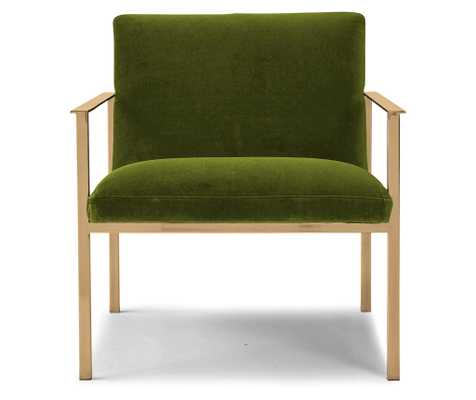 Green Orla Mid Century Modern Accent Chair - Royale Apple  - Joybird