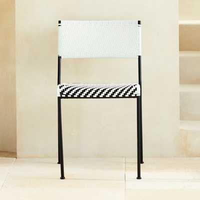 Condesa Woven Outdoor Dining Chair - CB2