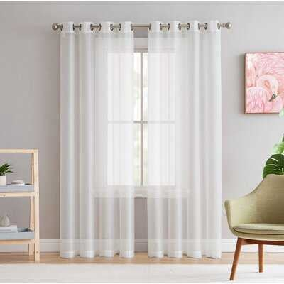 Highlawn Solid Sheer Grommet Curtain Panels - AllModern