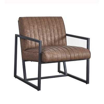 "Shawcross 26"" W Faux Leather Armchair - Wayfair"
