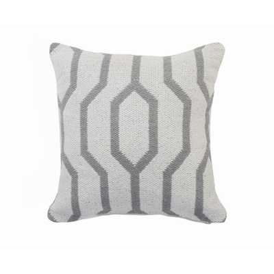 LR Home Vibe Gray / White Geometric Cozy Poly-fill 20 in. x 20 in. Throw Pillow - Home Depot
