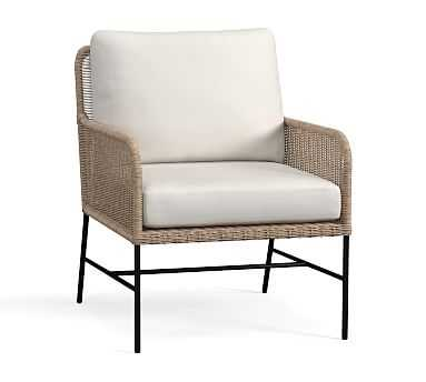 Tulum All-Weather Wicker Lounge Chair with Cushion - Pottery Barn
