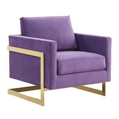 """Bellago 31.5"""" W Velvet Side Chair - Wayfair"""