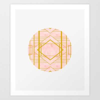 Art Deco Blush #pattern #geometric #blush Art Print by 83 Orangesa(r) Art Shop - X-LARGE - Society6