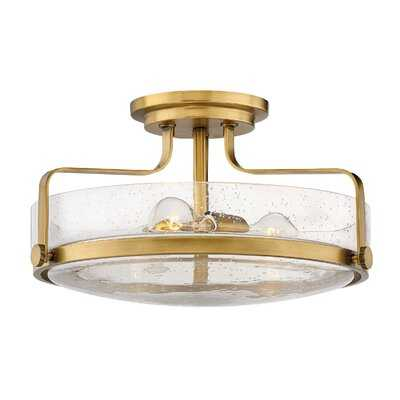 Alienor 3 - Light Simple Bowl Semi Flush Mount - Wayfair