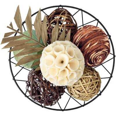 Red Barrel Studio® Decorative Balls For Centerpiece Decorative Bowl Fillers, Assorted Rattan Wicker Balls Orb Grapevine Ball, Vase Fillers, Table Decor, Pack Of 7 - Wayfair