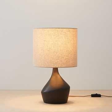 "Asymmetry Mini Table Lamp, 16.5"", Black, Set of 2 - West Elm"