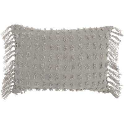 Coraline Textured Cotton Lumbar Pillow - AllModern