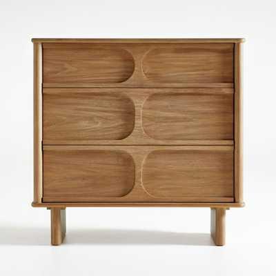 Wes 3-Drawer Wood Dresser - Crate and Barrel