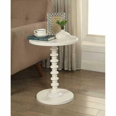 Rogerson Pedestal End Table - Wayfair