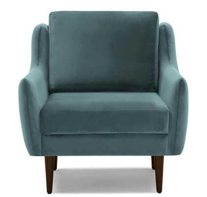 Blue Bell Mid Century Modern Chair - Dawson Slate - Mocha - Joybird