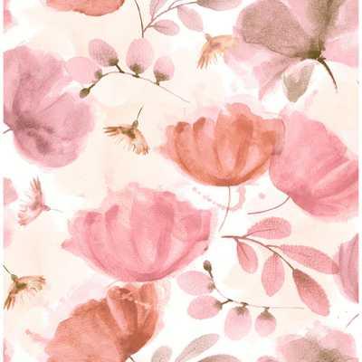 Brewster Zahra Pink Floral Wallpaper 56.4 sq. ft. - Home Depot
