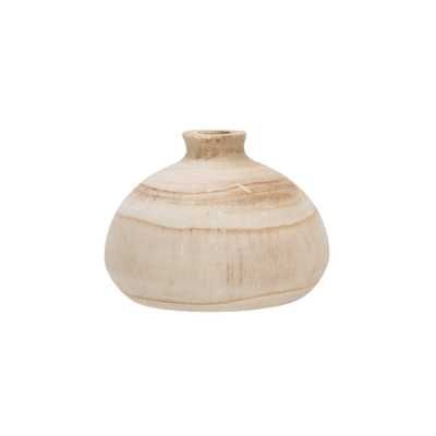 Small Paulownia Wood Vase (Each one will vary) - Nomad Home
