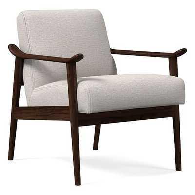 Midcentury Show Wood Chair, Poly, Twill, Wheat, Espresso - West Elm