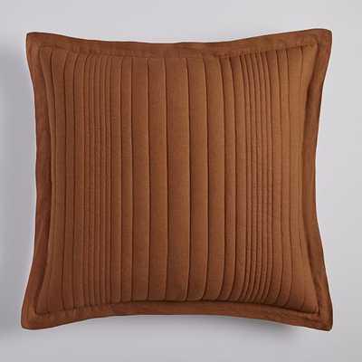 European Flax Linen Linework Quilt, Euro Sham Set, Amber - West Elm